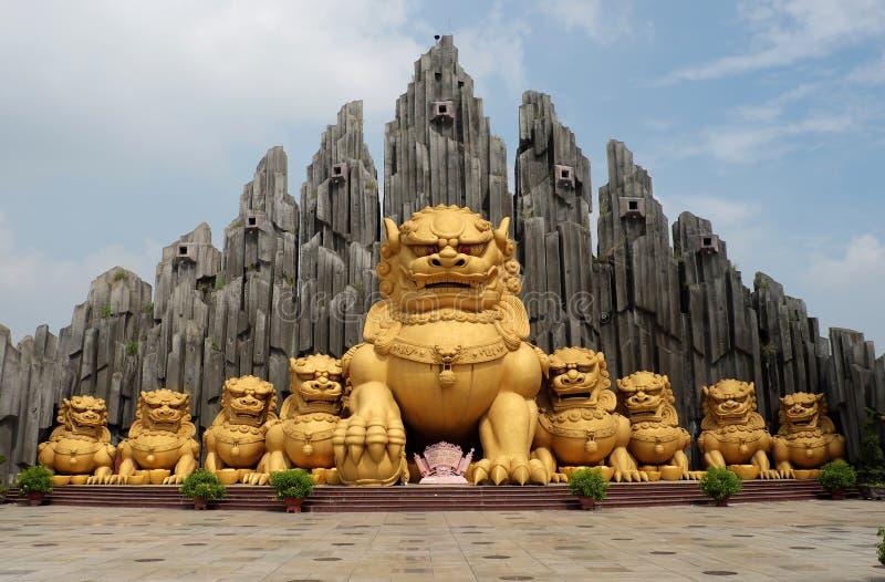 Unicórnio na área de turista de Suoi Tien fotografia de stock royalty free