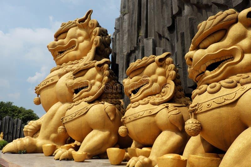 Unicórnio na área de turista de Suoi Tien foto de stock