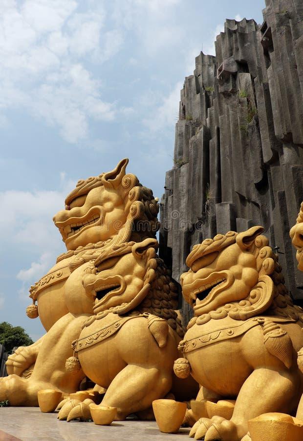 Unicórnio na área de turista de Suoi Tien fotografia de stock