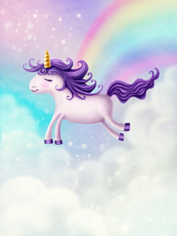 Unicórnio pequeno bonito ilustração royalty free