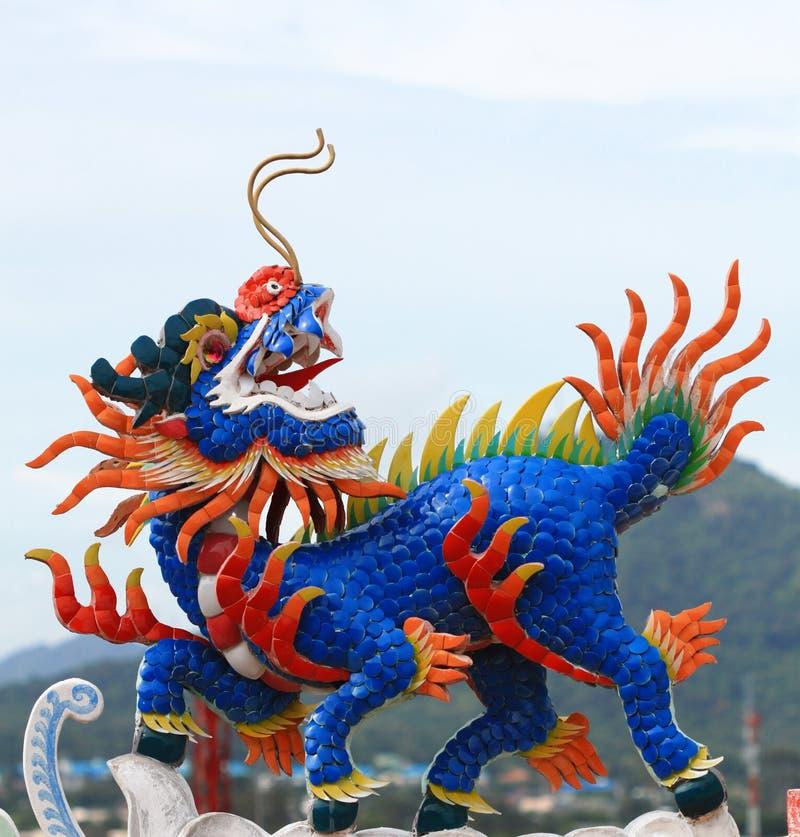 Unicórnio principal do dragão imagens de stock