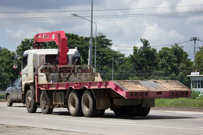 Unic V550 żuraw na Intymnej ciężarówce fotografia royalty free