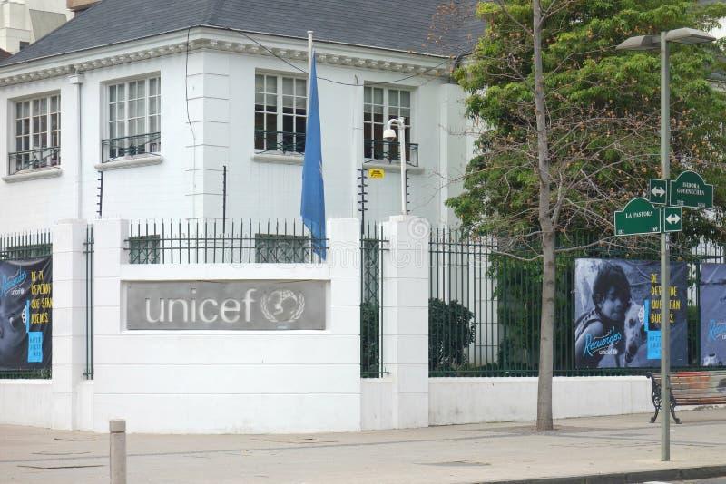 UNICEF biura w Chile fotografia royalty free