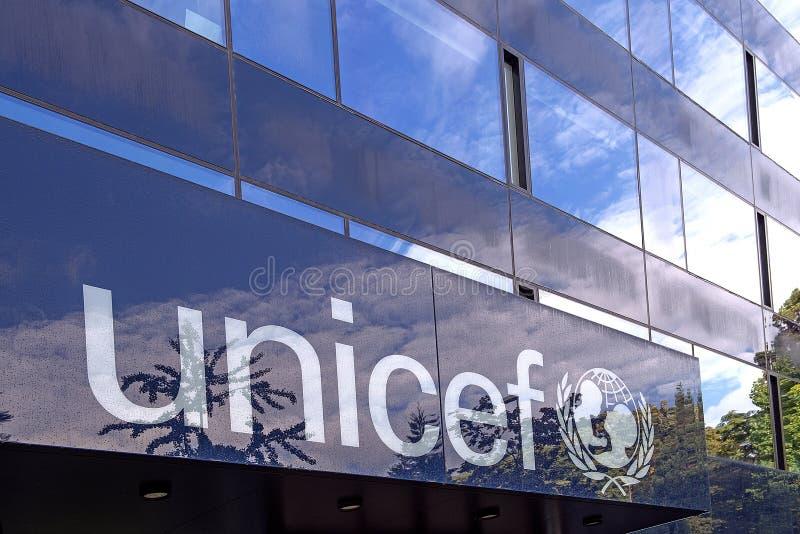 UNICEF som bygger i Genève arkivbilder
