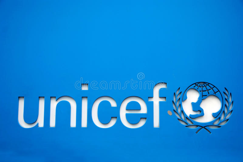 Unicef symbool stock illustratie