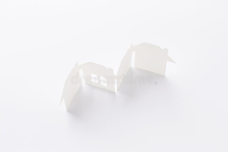 Unico nella vista del gruppo della casa di unità immagine stock