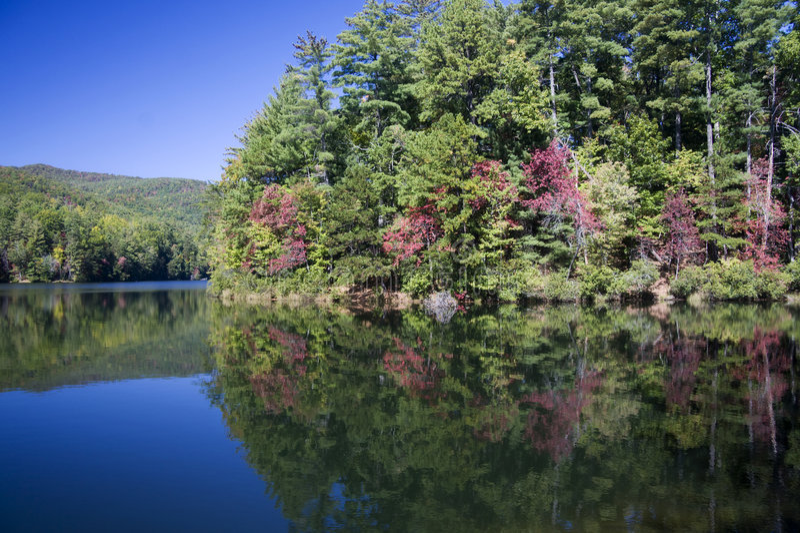 unicoi озера Georgia стоковая фотография rf