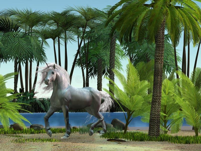 unicorn 01 royaltyfri illustrationer
