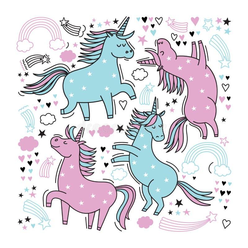 Unicorn3 皇族释放例证