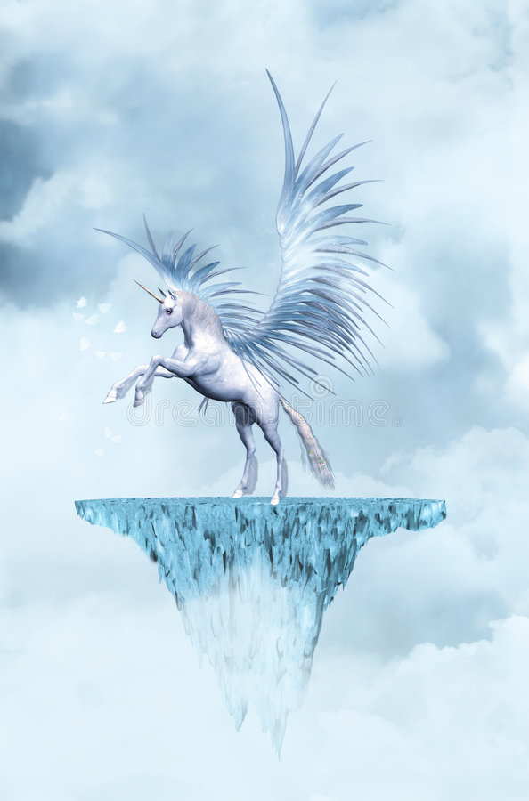 Unicorn. Fantasy background for your creations
