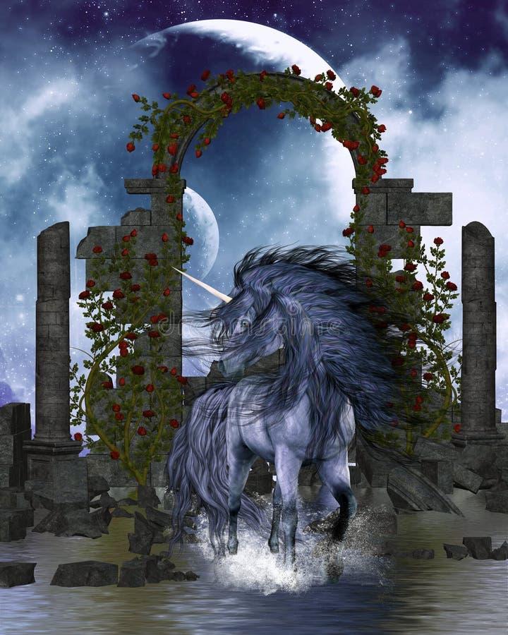 unicorn 3 stock illustrationer