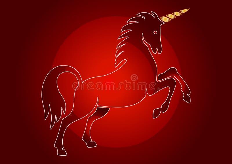 unicorn royaltyfri illustrationer