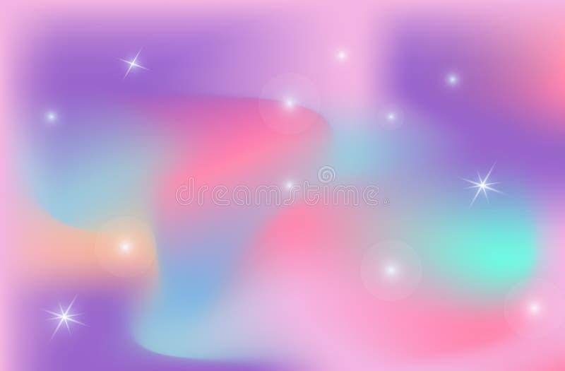 Unicorn backdrop background color gradient mesh vector universe. vector illustration