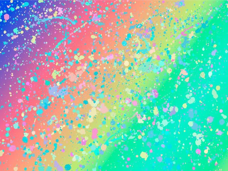 Unicorn background with rainbow mesh. Fantasy gradient backdrop with splash. Vector illustration for poster, brochure. Invitation, cover book, catalog. Trendy vector illustration