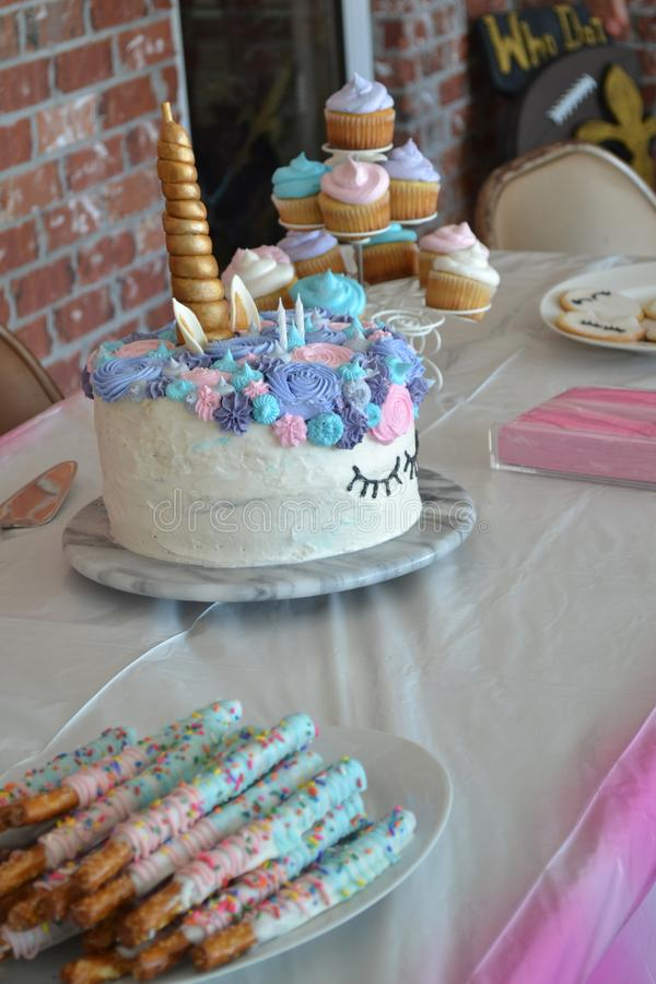 Unicorn Birthday Cake photo libre de droits