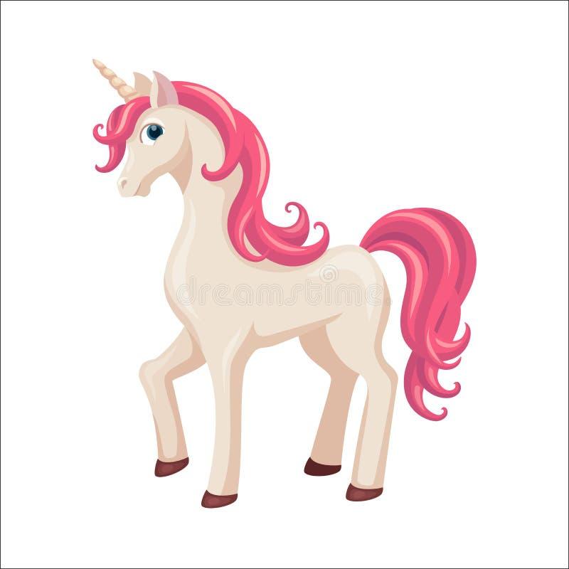 unicorn Cavalo bonito ilustração do vetor