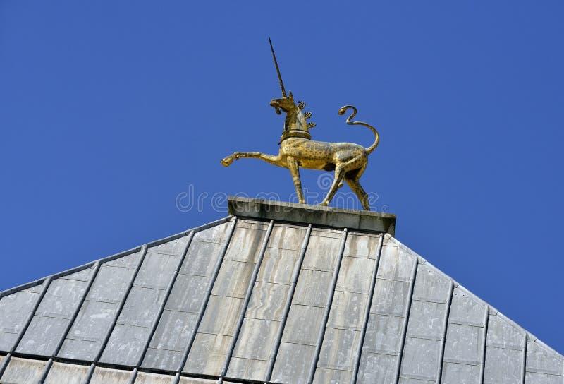 Unicorn City Hall images stock