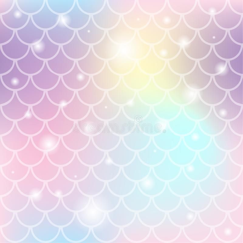 Unicorn color gradient seamless pattern stock illustration