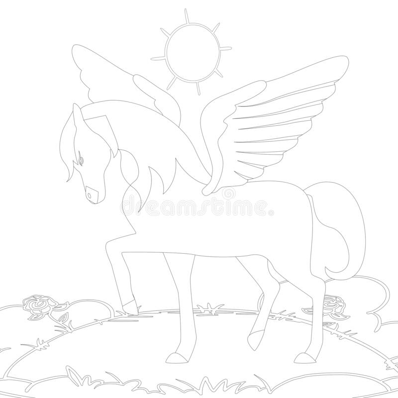 - Unicorn Coloring Pages. Stock Illustration. Illustration Of Horse -  182413919