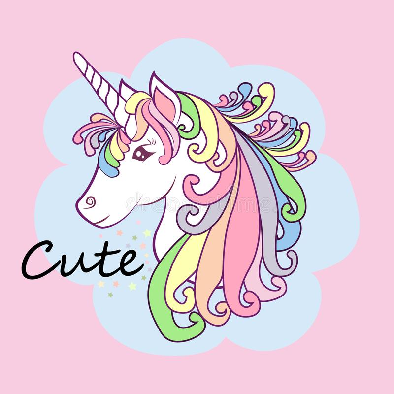 Unicorn Cute Illustration Card And Shirt Design Stock Illustration Illustration Of Isolated Star 157445271