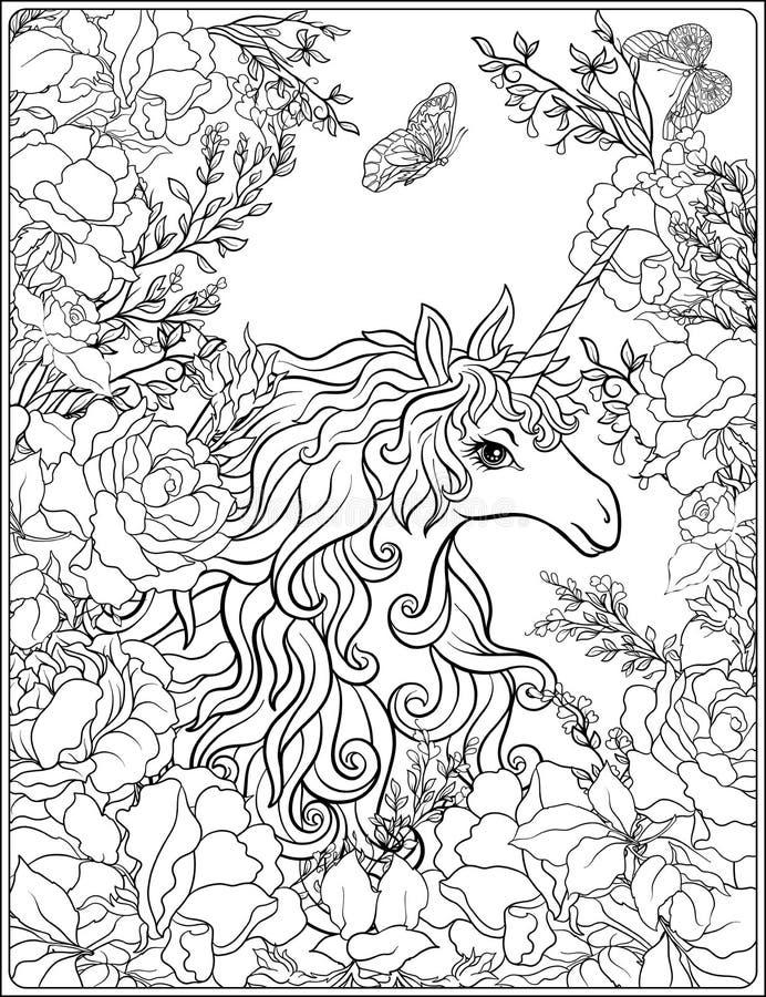 unicorn Die Zusammensetzung besteht aus einem Einhorn, das durch ein b umgeben wird lizenzfreie abbildung
