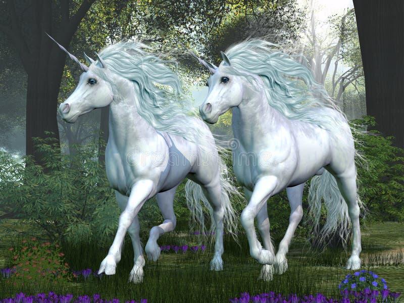 Unicorn Elm Forest illustration libre de droits