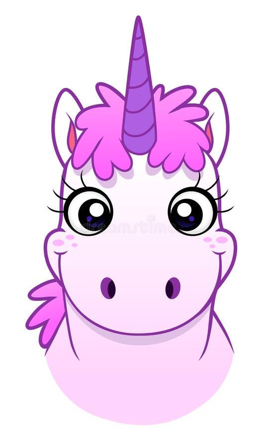 Unicorn Face royaltyfri illustrationer