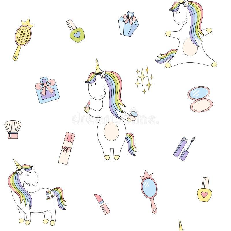 2018 04 27_unicorn fashion_P4 ilustración del vector
