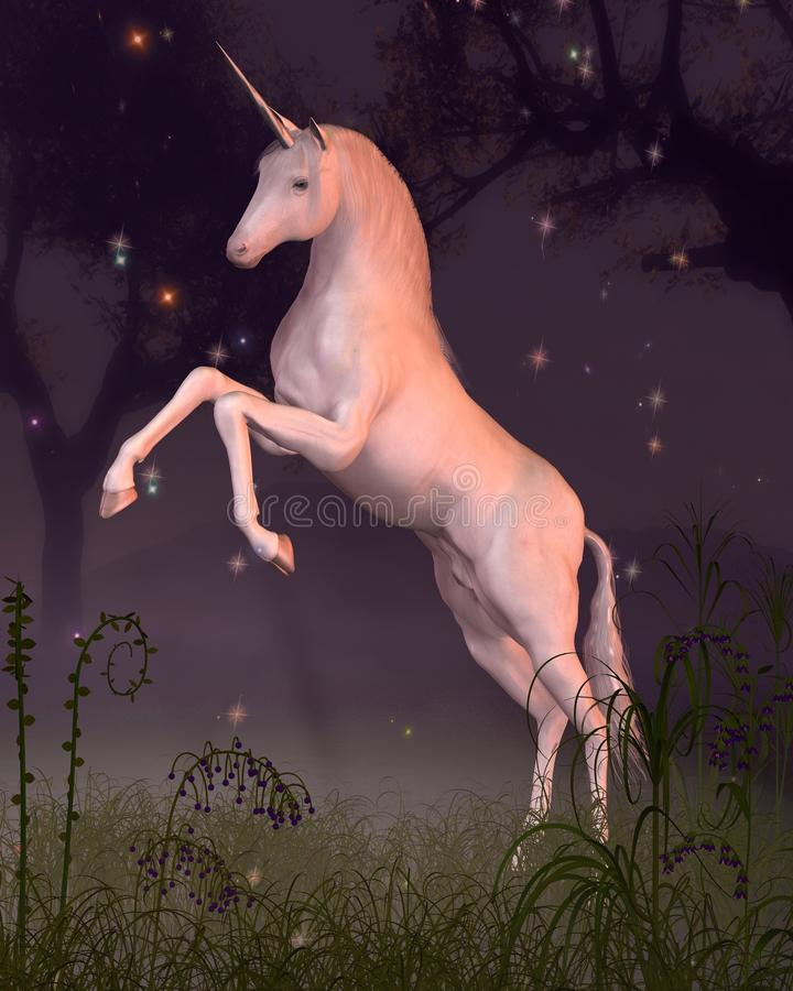 Download Unicorn in a Forest Glade stock illustration. Image of shining - 10170036