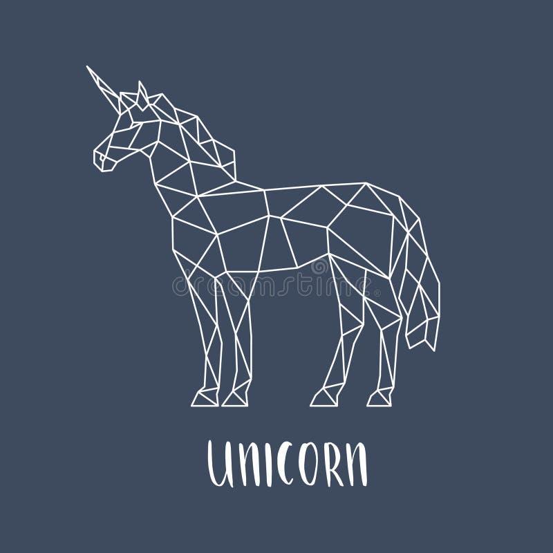 Unicorn in a geometric style. vector illustration