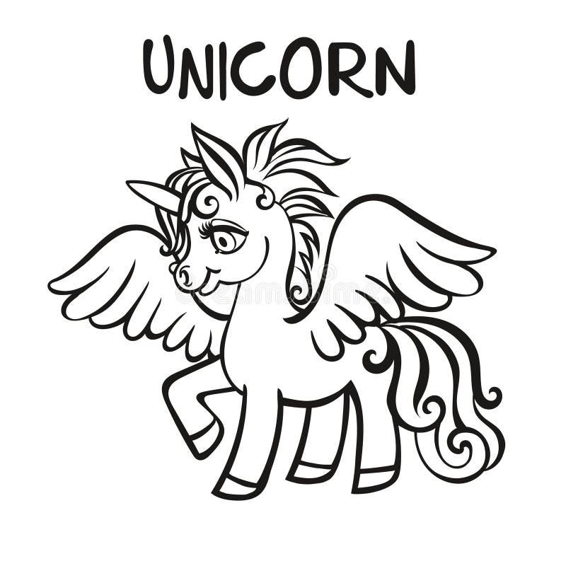 unicorn geometrisk vektor för abstrakt illustrationsbakgrund Sidor för färgläggningbok för vuxna människor och ungar stock illustrationer