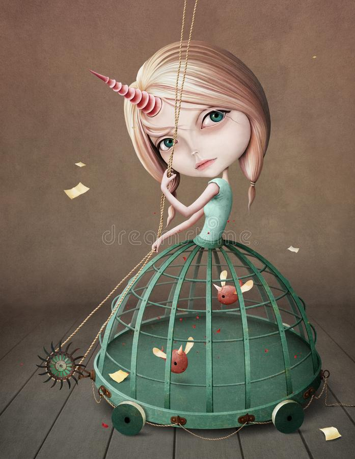 Unicorn Girl libre illustration