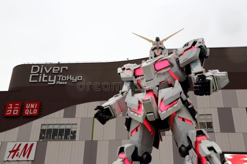 Unicorn Gundam imagen de archivo libre de regalías