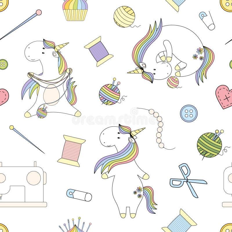 2018 05 06_unicorn handmade_P1 royaltyfri illustrationer