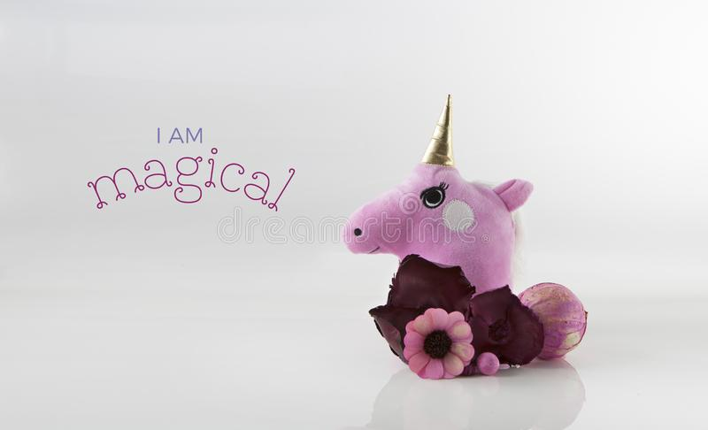 Unicorn Head Card Template mignon photographie stock