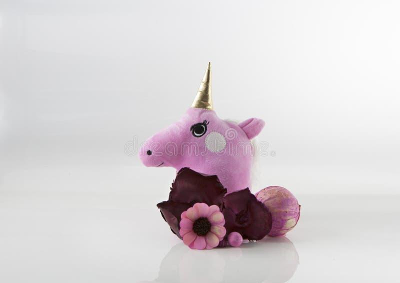 Unicorn Head lindo con la decoración imagenes de archivo