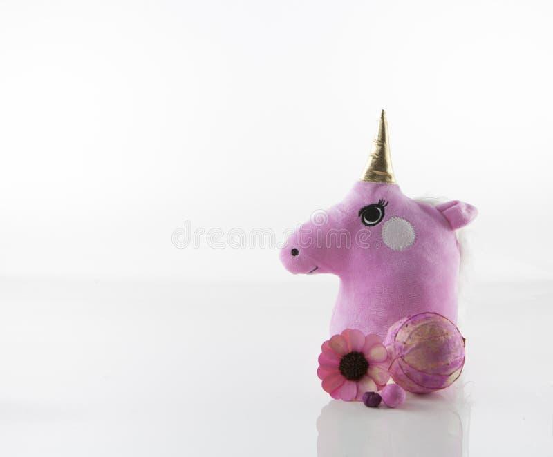 Unicorn Head lindo con la decoración imagen de archivo libre de regalías