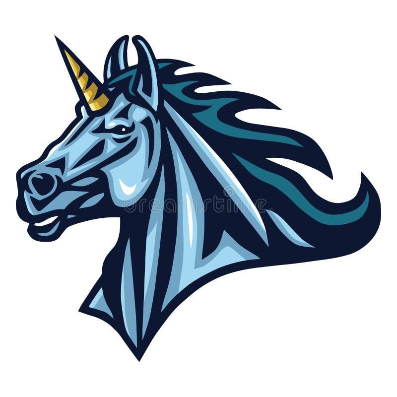 Unicorn Head Logo Design Sport Mascot Illustrator бесплатная иллюстрация