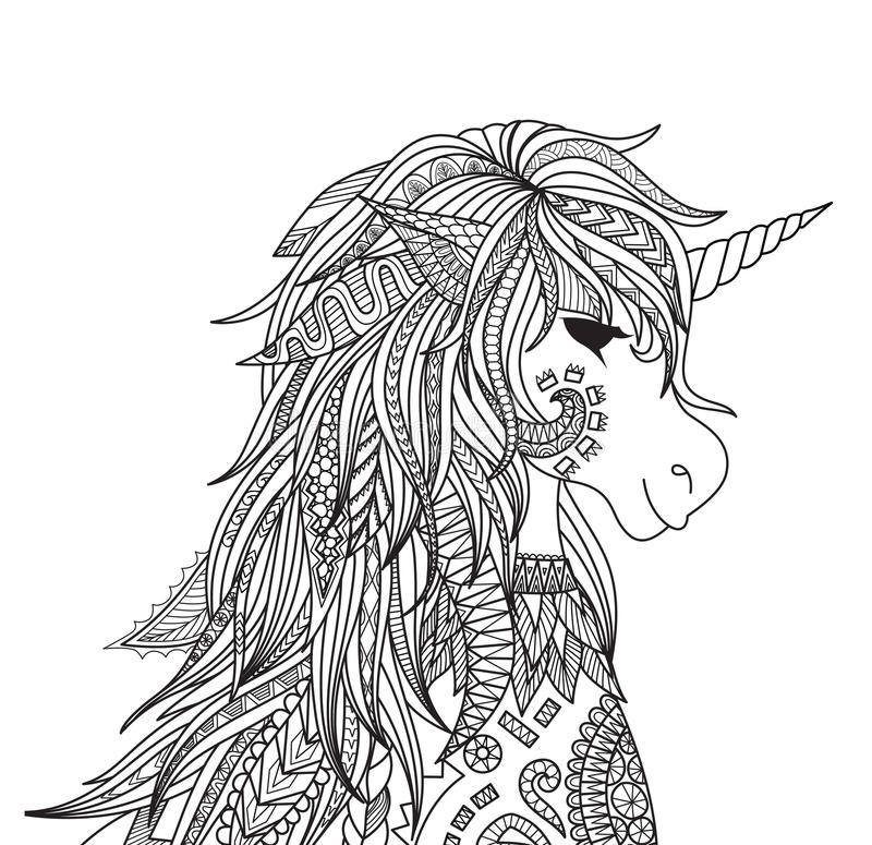 Unicorn head royalty free illustration