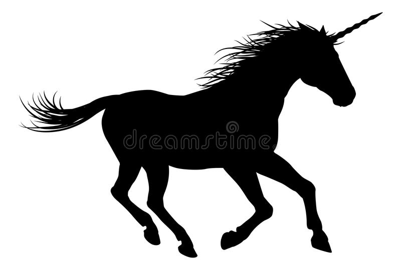 Unicorn Horse Galloping royalty-vrije illustratie