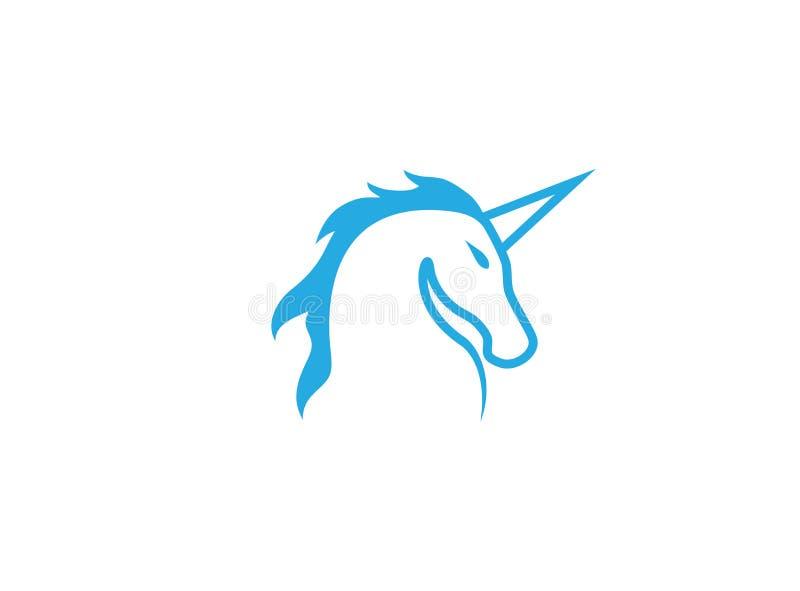 Unicorn Horse-hoofd voor de illustratie van het Embleemontwerp stock illustratie