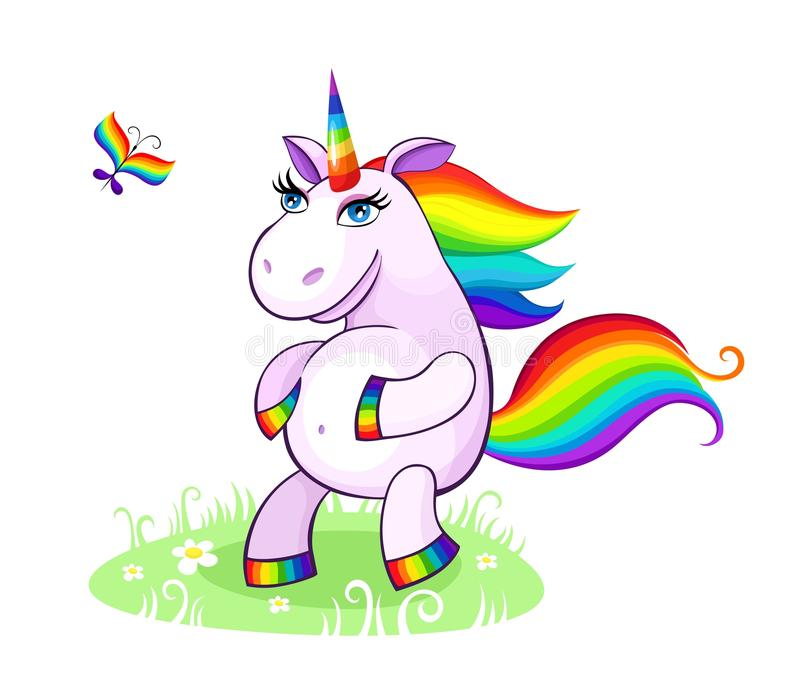 Unicorn illustration royalty free illustration
