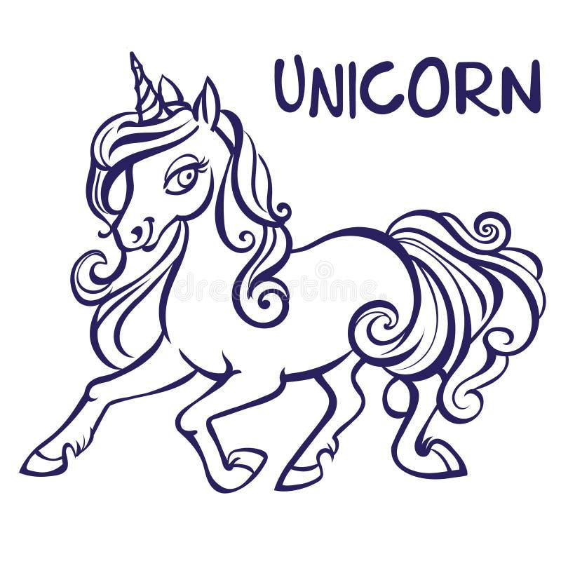 Unicorn Ilustraciones Del Vector Páginas Del Libro De Colorear Para ...