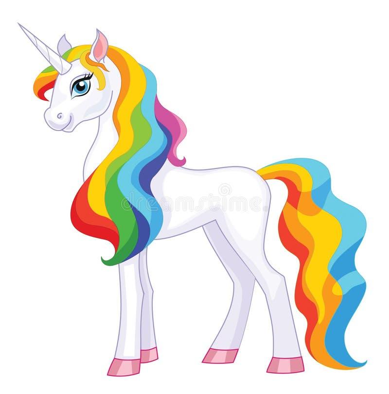 Unicorn Isolated en el fondo blanco Ilustración del vector ilustración del vector