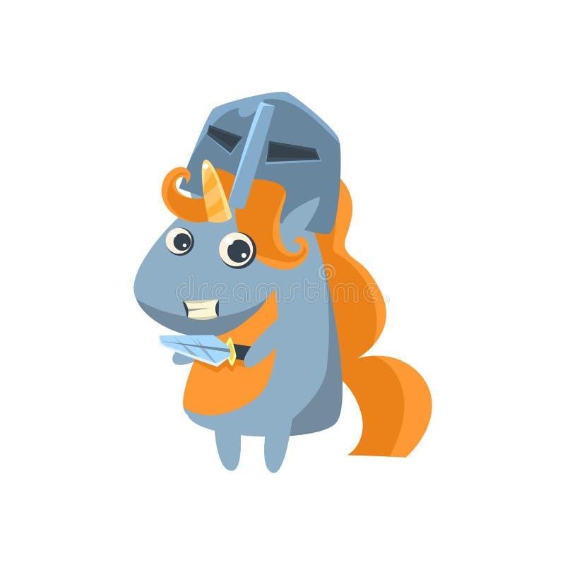 Unicorn In Knight Desguise illustration stock