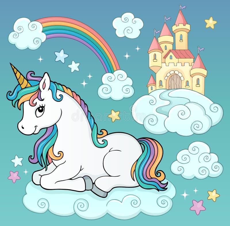 Unicorn and objects theme image 3 stock illustration