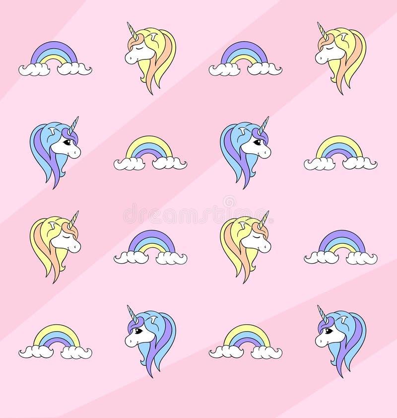 Unicorn Pattern vector illustration
