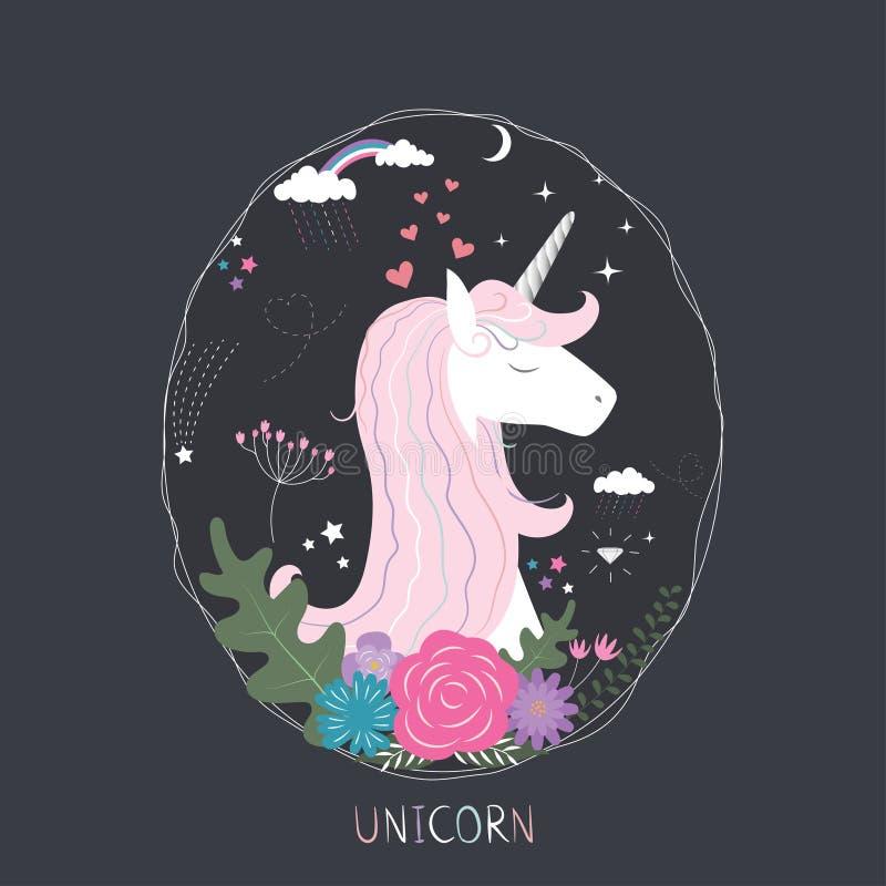 Unicorn Princess mignon illustration de vecteur
