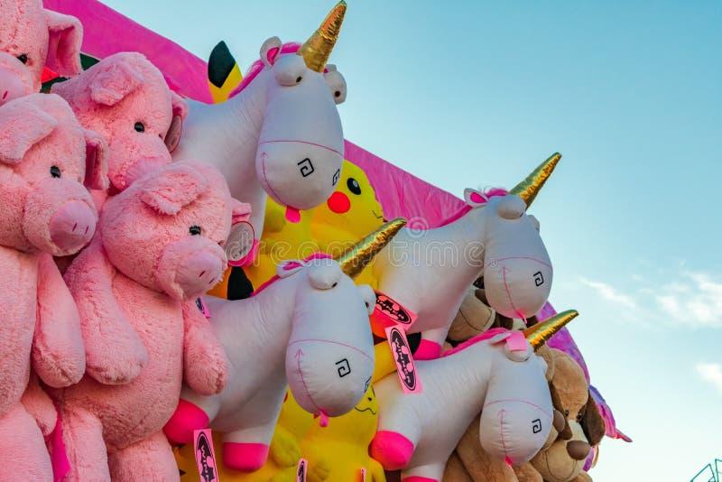 Unicorn Prizes en el tren de Cal Expo Fair 2018 imagen de archivo