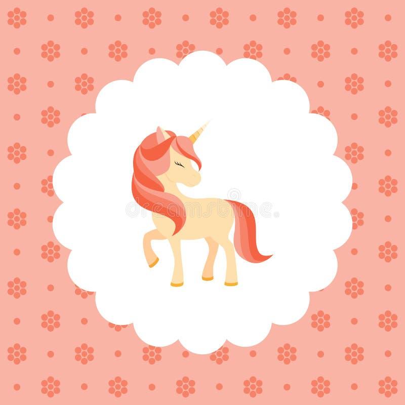 unicorn Rosa man ocks? vektor f?r coreldrawillustration S?nka designstil vektor illustrationer